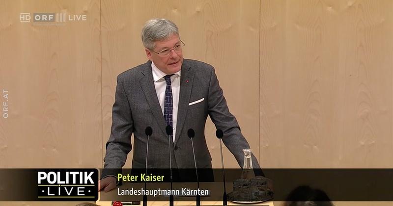 Rede #1 von Landeshauptmann Peter Kaiser